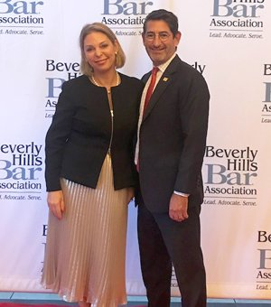 Richard Kaplan honored for achievements as past Beverly Hills Bar Association president.