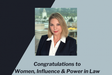 "Partner Nina Marino was honored today with the ""Managing Partner Award"" at the Women Influence & Power in Law Awards' 2020 event."