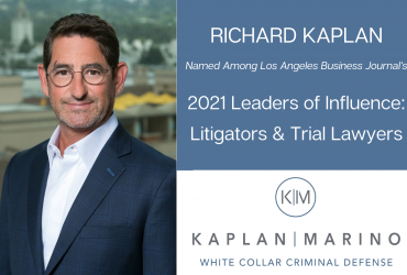 Kaplan Marino's Richard Kaplan Named a Top Litigator in Los Angeles